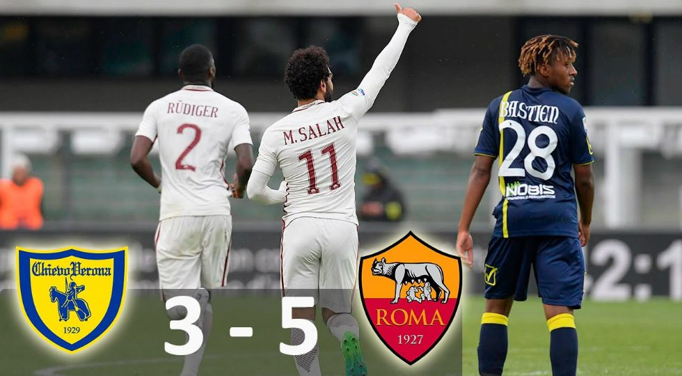 hasil chievo vs as roma